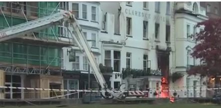Fire at Royal Clarence Hotel Exeter caused by Polish Plumbers?