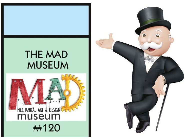 Mad Museum Pentonville Road  on Stratford Monopoly