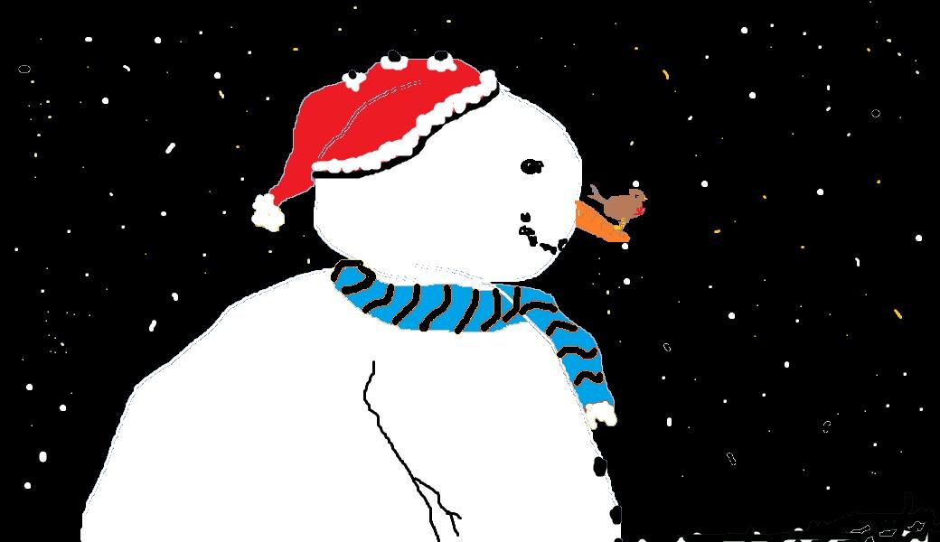 free downloadable snowman christmas card